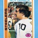 1978 Topps Football #104 Roy Gerela - Pittsburgh Steelers