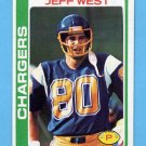 1978 Topps Football #088 Jeff West - San Diego Chargers NM-M