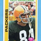 1978 Topps Football #039 Rich McGeorge - Green Bay Packers