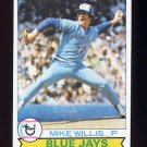 1979 Topps Baseball #688 Mike Willis - Toronto Blue Jays