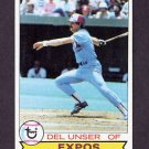 1979 Topps Baseball #628 Del Unser - Montreal Expos