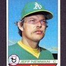 1979 Topps Baseball #604 Jeff Newman - Oakland A's