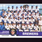 1979 Topps Baseball #577 Milwaukee Brewers Team Checklist / George Bamberger MG NM-M