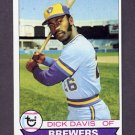 1979 Topps Baseball #474 Dick Davis RC - Milwaukee Brewers