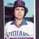 1979 Topps Baseball #459 Sid Monge - Cleveland Indians