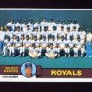 1979 Topps Baseball #451 Kansas City Royals Team Checklist / Whitey Herzog MG ExMt