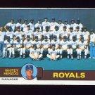 1979 Topps Baseball #451 Kansas City Royals Team Checklist / Whitey Herzog MG VgEx