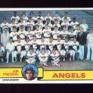 1979 Topps Baseball #424 California Angels Team Checklist / Jim Fregosi MG VgEx
