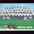 1979 Topps Baseball #404 Chicago White Sox Team Checklist / Don Kessinger MG Ex
