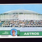 1979 Topps Baseball #381 Houston Astros Team Checklist / Bill Virdon MG ExMt