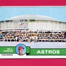 1979 Topps Baseball #381 Houston Astros Team Checklist / Bill Virdon MG G