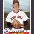 1979 Topps Baseball #349 Jim Wright RC - Boston Red Sox