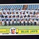 1979 Topps Baseball #282 Toronto Blue Jays Team Checklist / Roy Hartsfield MG Ex