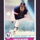 1979 Topps Baseball #253 Rick Wise - Cleveland Indians