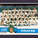 1979 Topps Baseball #244 Pittsburgh Pirates Team Checklist / Chuck Tanner MG Ex