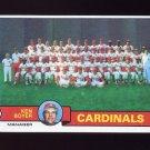 1979 Topps Baseball #192 St. Louis Cardinals Team Checklist / Ken Boyer MG NM-M