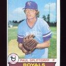 1979 Topps Baseball #183 Paul Splittorff - Kansas City Royals