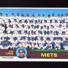 1979 Topps Baseball #082 New York Mets Team Checklist / Joe Torre MG NM-M