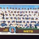 1979 Topps Baseball #082 New York Mets Team Checklist / Joe Torre MG Vg