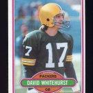 1980 Topps Football #367 David Whitehurst - Green Bay Packers