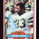 1980 Topps Football #211 Kevin Long - New York Jets