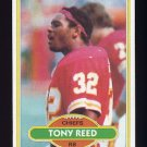 1980 Topps Football #173 Tony Reed - Kansas City Chiefs