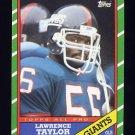1986 Topps Football #151 Lawrence Taylor - New York Giants