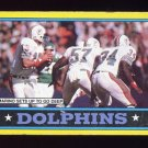 1986 Topps Football #044 Miami Dolphins Team Leaders / Dan Marino