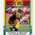 1986 Topps Football #002 Eric Dickerson RB - Los Angeles Rams