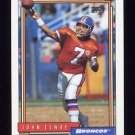 1992 Topps Football #125 John Elway - Denver Broncos