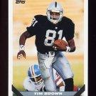 1993 Topps Football #628 Tim Brown - Los Angeles Raiders