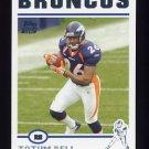2004 Topps Football #317 Tatum Bell RC - Denver Broncos