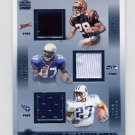 2002 Crown Royale Triple Threads Jerseys #22 Corey Dillon / Shaun Alexander / Eddie George Game-Used