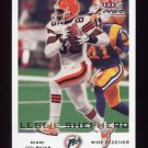 2000 Fleer Focus Football #132 Leslie Shepherd - Miami Dolphins