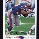 2000 Fleer Focus Football #102 Kevin Faulk - New England Patriots