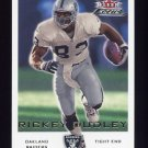 2000 Fleer Focus Football #065 Rickey Dudley - Oakland Raiders