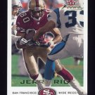 2000 Fleer Focus Football #044 Jerry Rice - San Francisco 49ers