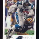 2000 Fleer Focus Football #042 Wesley Walls - Carolina Panthers