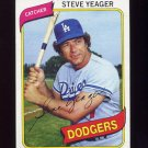1980 Topps Baseball #726 Steve Yeager - Los Angeles Dodgers Ex-ExMt