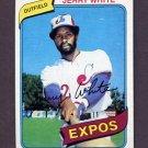 1980 Topps Baseball #724 Jerry White - Montreal Expos