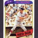 1980 Topps Baseball #720 Carl Yastrzemski - Boston Red Sox NM-M