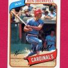 1980 Topps Baseball #701 Ken Oberkfell RC - St. Louis Cardinals ExMt