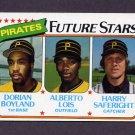 1980 Topps Baseball #683 Dorian Boyland / Alberto Lois / Harry Saferight - Pittsburgh Pirates