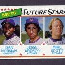 1980 Topps Baseball #681 Dan Norman / Jesse Orosco / Mike Scott - New York Mets