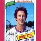 1980 Topps Baseball #654 Bruce Boisclair - New York Mets NM-M