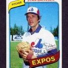 1980 Topps Baseball #653 Stan Bahnsen - Montreal Expos