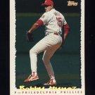 1995 Topps Baseball Cyberstats #253 Bobby Munoz - Philadelphia Phillies