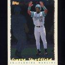 1995 Topps Baseball Cyberstats #236 Gary Sheffield - Florida Marlins