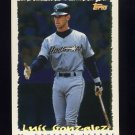 1995 Topps Baseball Cyberstats #097 Luis Gonzalez - Houston Astros