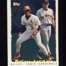 1995 Topps Baseball Cyberstats #044 Brian Jordan - St. Louis Cardinals
